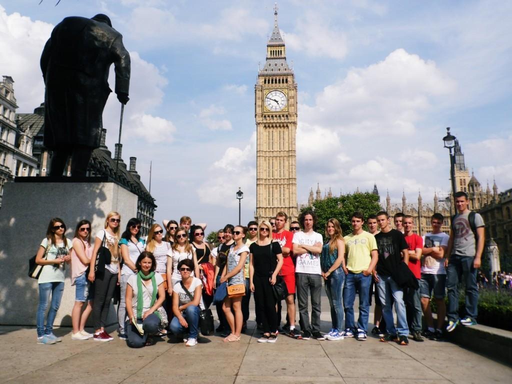 """Brytyjska przygoda uczniów w ramach  programu  """"Leonardo da Vinci"""",  2014 r."""